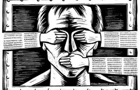 Cartoon - Silenced Whistleblower