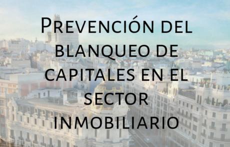 Prevención del blanqueo de capitales en el sector inmobiliario